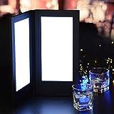 MegaBrand 5-1/2'' x 11'' Illuminated Folding Menu Cover 2-Panel LED Backlit
