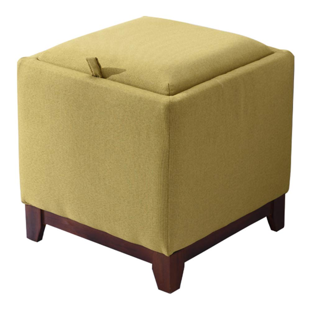 Matcha color 404042cm ZHAOYONGLI Storage Stool Household Coffee Table Stool Living Room Small Stool Cloth Change shoes Bench Multifunction Creative Solid Durable Long Lasting (color   Purple, Size   40  40  42cm)