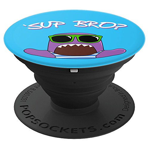 Sup Bro  Cute Little Beach Monster   Popsockets Grip And Stand For Phones And Tablets