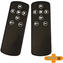 E-TING Black Remote Control with Battery Pause Menu and Fast Forward Features for Apple TV 2 3 4