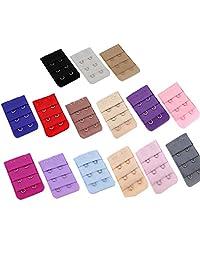 Women Lingerie Accessories Adjustable Bra Extender Straps Clip Color Set, 2 Hooks