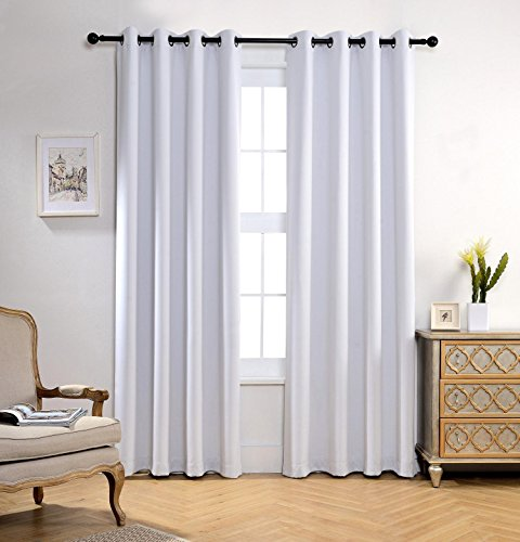 Miuco Room Darkening Grommet Window Blackout Curtains For