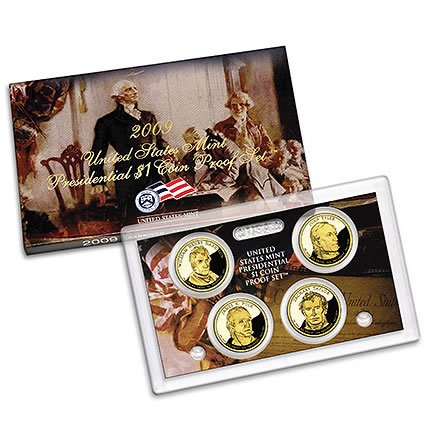 2009 S US MINT Presidential Dollar Proof Set Comes in original Packaging From the US Mint Proof