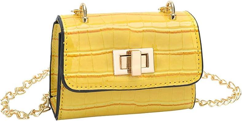 petit sac à main jaune en bandoulière