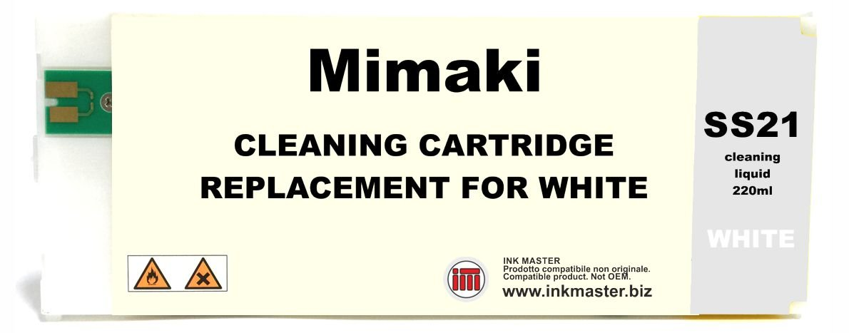 INK MASTER Cartuccia compatibile MIMAKI SS21 CLEANING WHITE per MIMAKI SOLVENT
