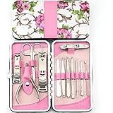 Asien, 12pcs manicure dell'acciaio inossidabile Pedicure, Viaggi Grooming Set, Strumenti Personal Care