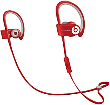 Amazon Com Beats By Dr Dre Powerbeats2 Wireless In Ear Bluetooth Headphone With Mic Red Renewed Electronics
