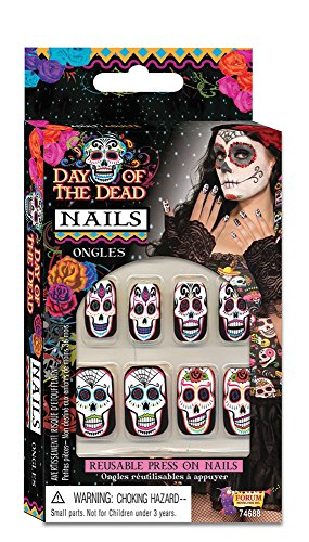 Day of The Dead Fake Nails Set]()