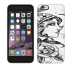 Best Power(Tm) HD Colorful Painted Watercolor The Girl With Many Flowers Hard Phone Case For Iphone 6 Plus