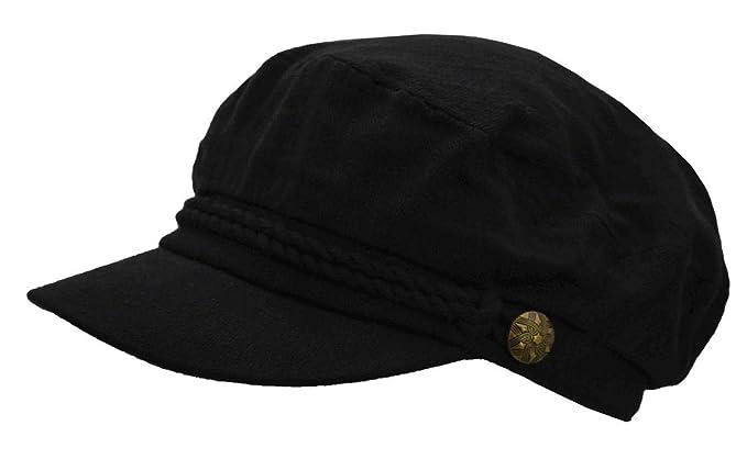 Epoch Men s Cotton Greek Fisherman Apple Hat (Black) at Amazon Men s ... 9a7781e45a7