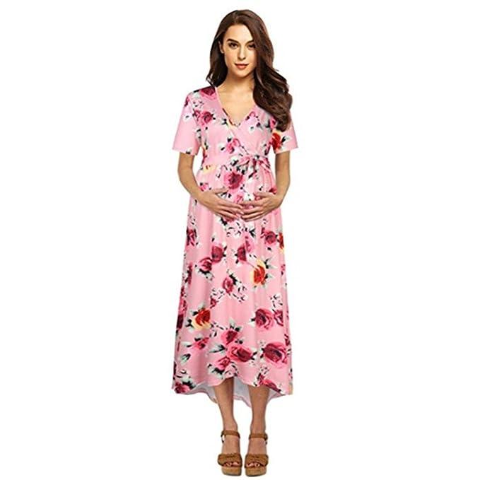 d96b3b9b2 SamMoSon 2019 Vestido Premama Jersey Camison Mujer Blusas para Mujer  Camiseta Divertidas Embarazada