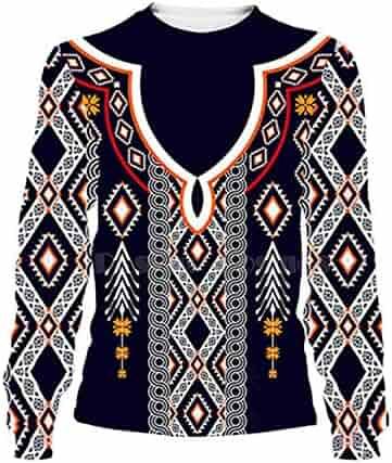 EspTmall American//Indian 3D Hoodie Tee Men Women Autumn Hooded Sweatshirt Long Sleeve Pullover Hoody Style 1