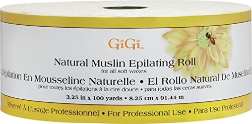 GiGi Natural Muslin Epilating Roll, 3.25 inch, 100 yard