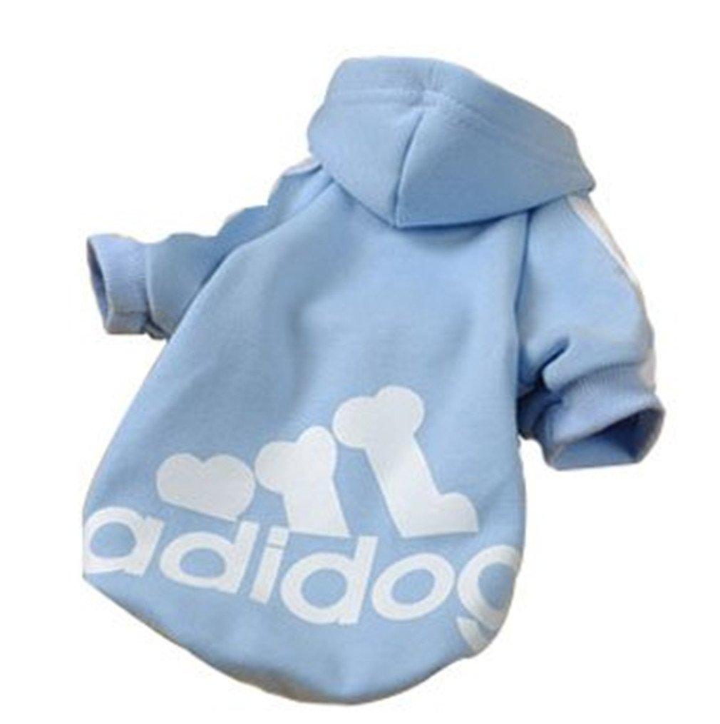 XL JUYUAN-EU Adidog Pet Dog Jumpsuit Hood Cat Sweater Puppy T Shirt Warm Hoodies Coat Clothes Pink