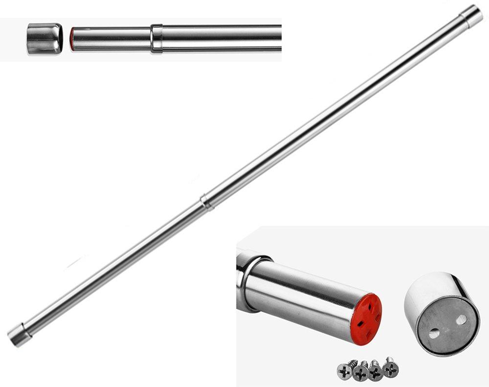Asta appendiabiti per armadio estensibile, diametro 25mm, lunghezza 57- 97cm, in acciaio inox diametro 25mm lunghezza 57- 97cm PZT