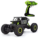 Luerme RC Cars Off-Road Vehicle 2.4Ghz Remote Control Racing Cars Monster Truck 1:18 4WD Climbing Electric Rock Crawler Buggy Car Toy (Green)