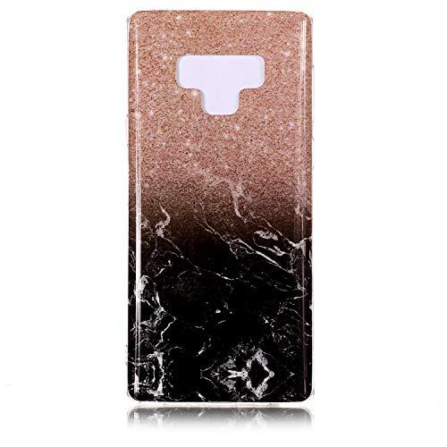 de Mince Coque Rose étui inShang Le Samsung gold Housse matériel Galaxy 9 marble étui Slip et Ultra Rigide Mate9 Note TPU léger Fait Coque Portable pour black téléphone Anti dans F1F7I