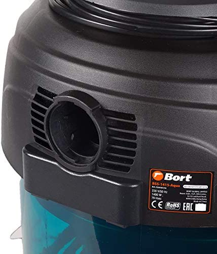 Bort BSS-1415-Aqua - Aspirateur eau et poussière, volume du réservoir 15 l, 1400 W, filtre HEPA + AQUA, fonction de ventilation, contrôle de la capacité