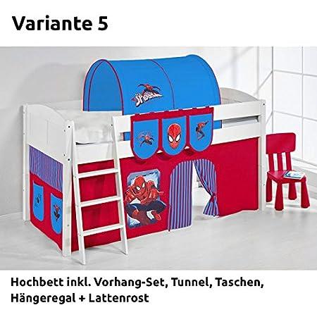 Ida Spiderman Loft Bed With Curtain White Version 5 Amazon Co Uk