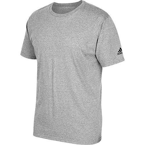 adidas Youth Short Sleeve Logo T-Shirt Grey (Adidas Logo Short Sleeve Tee)