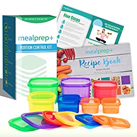 SALE! 21 Day Portion Control Diet Container Set LABELED Portion Control Set (7 Piece) Autumn Diet Fix Kit + Meal Plan Guide - BPA Free Food Storage Containers Lose Weight 34 LABELED CONTAINERS: Unlike lower quality portion control containers, the MealPrep+ lids are all conveniently labeled with the food group that belongs inside them. At a glance identify the macronutrient groups you need without constantly looking it up! ACHIEVE YOUR GOALS: The MealPrep+ portion control containers turn meticulous calorie counting into a thing of the past! The color coded containers are an effective but simple way to plan your daily meals and lose weight with our dieting plan, similar to the 21 day fix PREMIUM QUALITY: Made with high quality, food-grade plastic; safe, economical and BPA + DEHP free. User friendly design allows for quick stacking and store-and-go. Containers are microwave, dishwasher and freezer safe