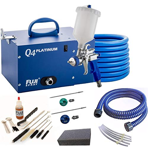 Fuji Q4 Quiet HVLP Spray System with Fuji 600CC Gravity Cup Kit and Accessory (Fuji Hvlp Q4 Pro With Gravity Gun)