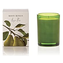 Rosy Rings Anjou Pear Botanica Glass Candle (Olive)