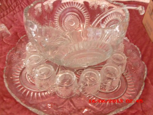 indiana glass punch bowl - 1