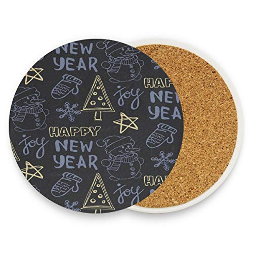 (Christmas Coasters, Protect Your Furniture From Stains,Coffee, Drink Coasters Funny Housewarming Gift,Round Cup Mat Pad For Home, Kitchen Or Bar Set Of 2)