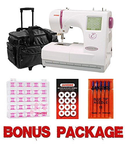 Janome 350E Memory Craft Embroidery Machine Bundle