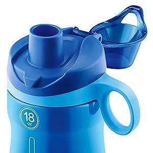 Pogo BPA-Free Plastic Water Bottle with Chug Lid, Blue, 18 oz.