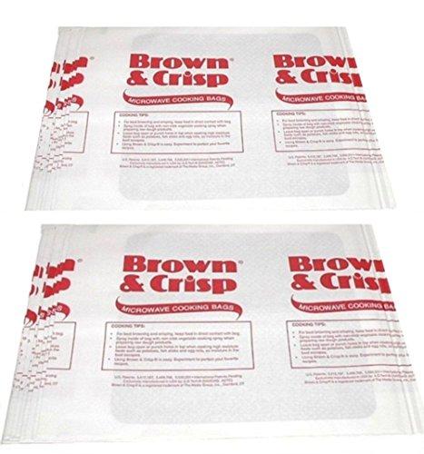 Brown & Crisp Microwave Cooking Bags - Large- 20 Pack (Crisp Bags)