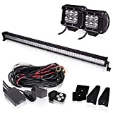 50 INCH Led Work Light Bar White Waterproof IP67 Flood Sp...