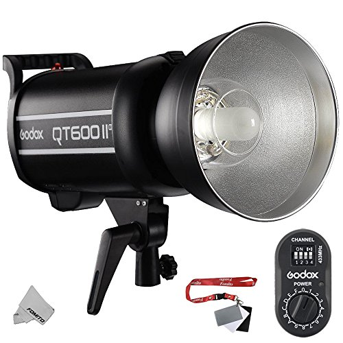 Fomito Godox QT-600IIM 600Ws 110V Multi-Freeze IGBT Studio Flash Strobe Light GN76 HSS Built-in 2.4G Wirless X System Radio Reciver + 433MHz FTR-16 Receiver for Canon Nikon Sony DSLR Camera by Fomito