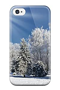 Premium Durable Bright Snow Fashion Tpu Iphone 4/4s Protective Case Cover
