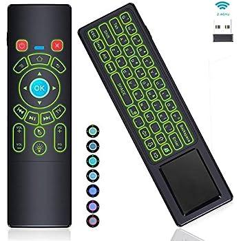 ... Remote Control Touchpad,RC T6+ 2.4GHz Wireless USB Remote Backlit for Mac Mini,Kodi,Windows 10,Linux,Android TV Box,PC,Laptop,HTPC,Raspberry Pi 3 B