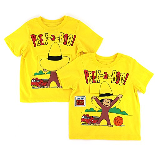 [Curious George Toddler Yellow Flap T-Shirt (4T)] (Curious George Toddler T-shirt)