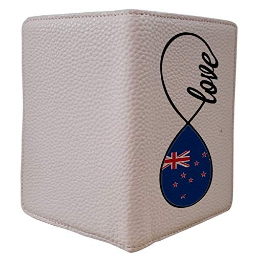 [OxyCase] Designer Light Weight PU Leather Passport Holder Cover/Case - Infinity Love New Zealand Flag Design Printed Cute Travel Wallet for Girls/Women