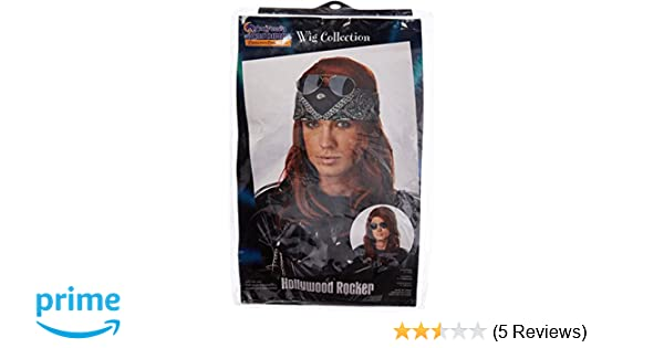 Amazon.com: California Costumes Mens Hollywood Rocker Wig,Auburn,One Size: Clothing