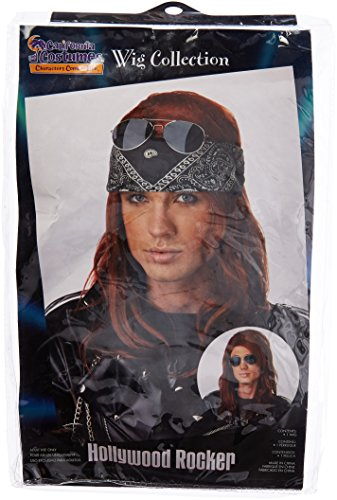 Axl Costume Womens Rose (California Costumes Men's Hollywood Rocker Wig,Auburn,One)