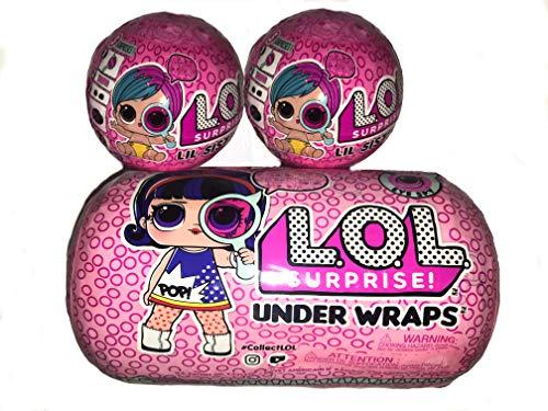 L.O.L. ¡Sorpresa! Paquete de 2 Eye Spy Series Lil Sister Wave 2 y 1 Under Wraps Eye Spy Series 4-1