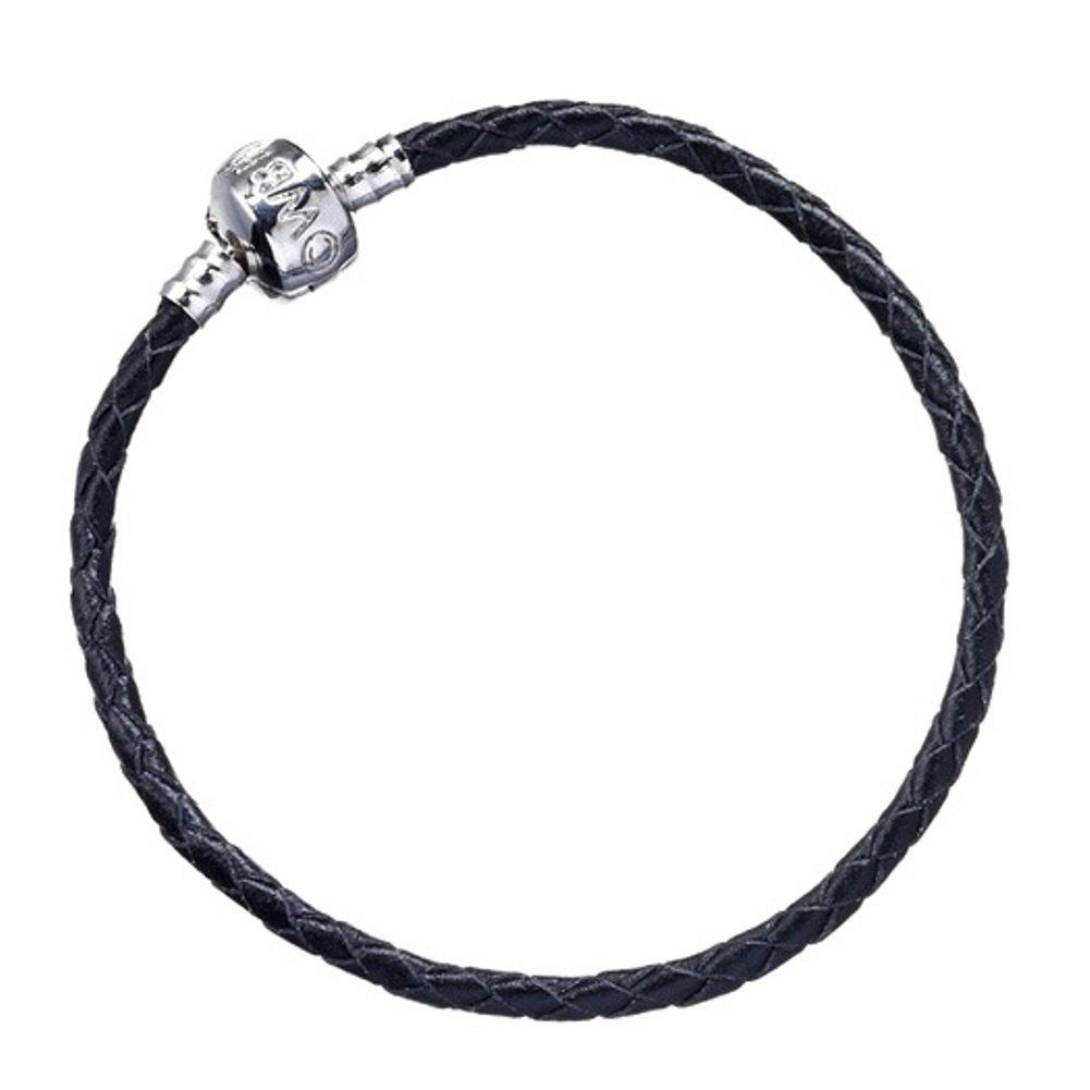 HARRY POTTER Officiel Cuir noir Curseur Charm Bracelet Petite Enfant