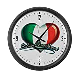 Large Wall Clock Italian Sweetheart Italy Flag