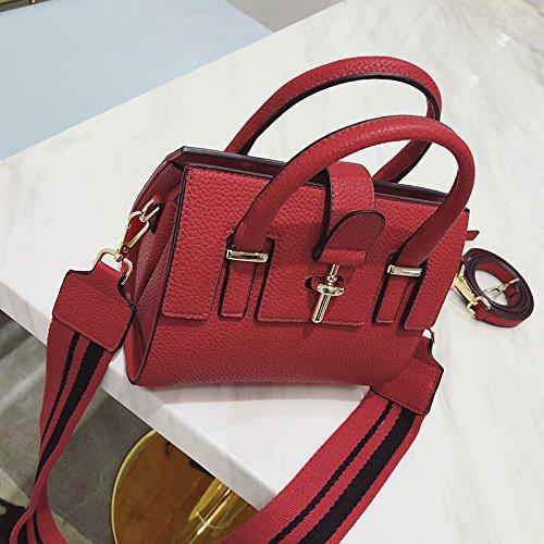 Zazero Con Borsa Design Nero Spalla La Piccola Rosso Minimalista Personalizzata ggpWxrZnq