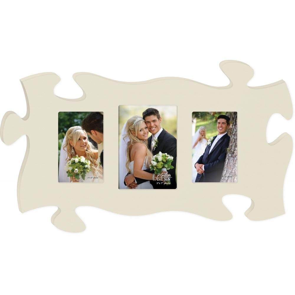 Graham Dunn Cream 13 x 22 Wall Hanging Wood Puzzle Piece Photo Frame PUF0110 P