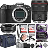 Canon EOS RP Mirrorless Digital Camera and Canon RF 24-105mm Lens + Canon EF-EOS R Mount Adapter with Altura Photo Complete Accessory and Travel Bundle