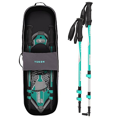 Yukon Charlie's Advanced 8x21 in. Women's Snowshoe Kit w/ Poles & Bag   80-3005K