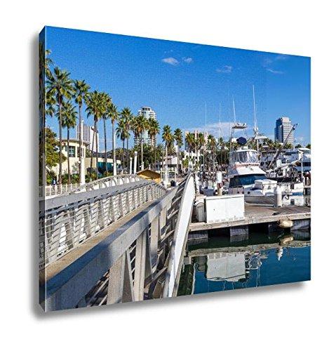 Ashley Canvas Long Beach Marina And City Skyline Long Beach Ca, Wall Art Home Decor, Ready to Hang, Color, 16x20, AG5620066
