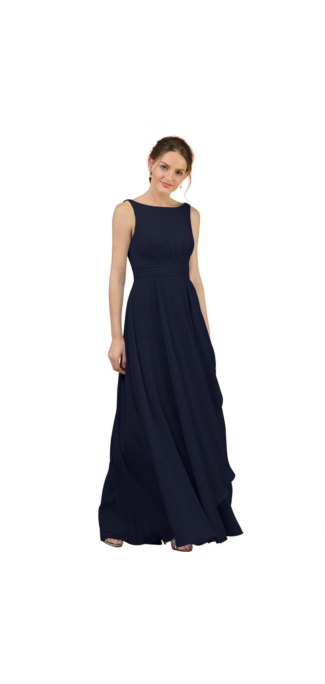 A-line Chiffon Bridesmaid Dress Long Party Evening Prom