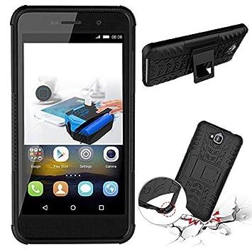 Huawei honor5 Funda,360 Grados Protección A Prueba de Choques Cubierta 2in1 TPC Silicona Carcasa Skin Case Cover Compatible Huawei honor5 - Negro + ...